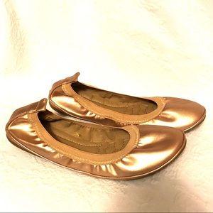 Ollio Rose Gold ballet flats size 8.5